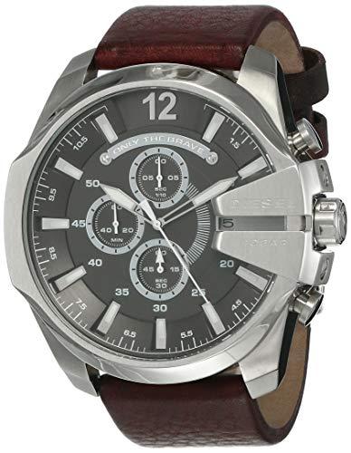 Diesel Herren Chronograph Quarz Uhr mit Leder Armband DZ4290