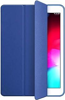 KenKe iPad Air ケース 超軽量超薄型スマートカバー自動スリープ機能シリコンスリーブ三つ折りブラケット (iPad 5/6) 9.7インチユニバーサル保護カバー(iPad air 1/2) (ネービーブルー)