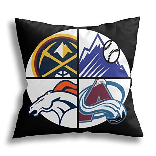 Niaoyun- Denver Sports - Fodera per cuscino da divano per auto e casa, in poliestere, 40,5 x 45,5 cm