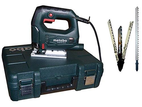 Metabo STEB 65 i. Koffer Bundle + Bosch Makita Stichsägeblätter für Trenn-Biber 012L