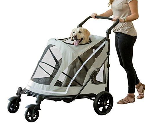 Best Pet Gear NO-ZIP Stroller, Push Button Zipperless Stroller For Large Dogs