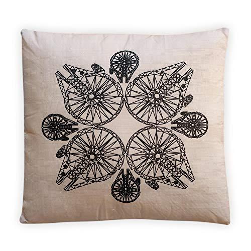 STAR WARS Decorative Throw Pillow | Millennium Falcon Pattern | 20 x 20 Inches