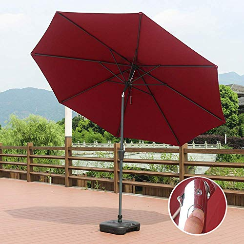 FCXBQ 9.8Ft Outdoor Market Patio Table Umbrellas Sunbrella Tilt Adjust With 38mm Iron Tube Crank For Garden, Deck, Backyard