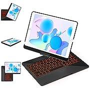 iPad 8th Generation Keyboard Case10.2 (2020), 7th Generation - iPad Air 10.5, iPad Pro 10.5, iPad Air 3rd - 360° Rotatable -12 Colors Backlit - Slim Protective Cover - Black