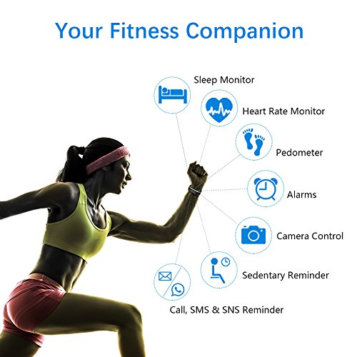 LETSCOM Fitness Tracker HR, Activity Tracker Watch with Heart Rate Monitor, IP67 Smart Bracelet with Step Counter, Calorie Counter, Pedometer Watch for Kids Women and Men 2