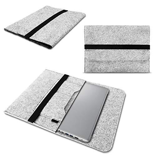 NAUC Lenovo Thinkpad Yoga 370 Tasche Hülle Filz Sleeve Hülle Schutzhülle Notebook Cover, Farben:Hell Grau
