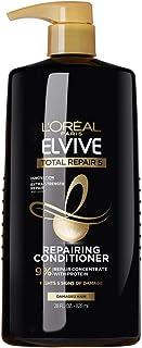 L'Oreal Paris Elvive Total Repair 5 acondicionador reparador para cabello dañado acondicionador con proteína y ceramida para cabello fuerte y sedoso y renovado saludable 28 fl oz