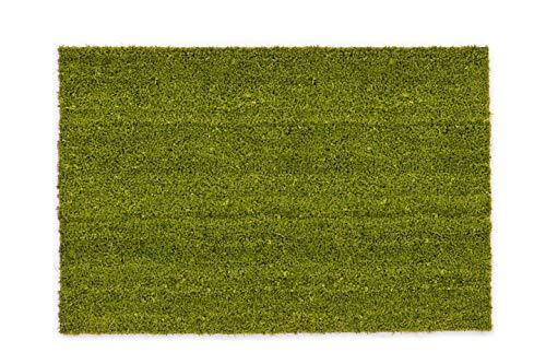 Felpudo Antideslizante de Coco – Antibacteriano – para el Exterior Cubierto – Fibra Natural sostenible – 100% Coco – 50 x 80 cm – Verde