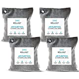 Brilliant Evolution Bamboo Charcoal Air Purifying Bag 220g 4 Pack | Car Air Freshener | Closet Deodorizer | Natural Air Purifier | Activated Charcoal Odor Absorber | Odor Eliminator | Room Deodorizer