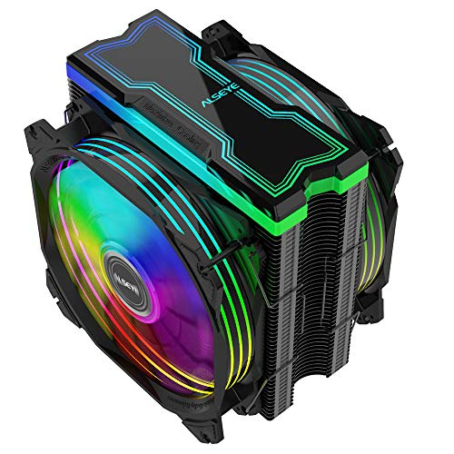RGB Fans, 120mm CPU Cooler Fan High Performance Dual Fan CPU Air Cooler with 4 Heatpipes 4 PIN...