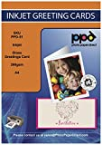 PPD Inkjet Large Glossy Printable Greeting Cards LTR 8.5 x 11' folding to 5.5 x 8.5' 64lbs. 240gsm 10.9mil With Envelopes x 20 Sheets (PPD051-ENV-20)
