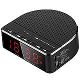 T-ara Calidad de sonido de alta fidelidad Altavoz inalámbrico Bluetooth Teléfono móvil Mini Music Reloj de alarma de reloj de alarma, Radio portátil, RECEIVO HI-FI MUSIC STREAMING SISTEMA DE SONIDO PA