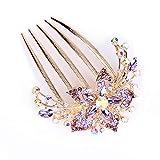 Weituoli Pince à cheveux en forme de prêle - Confortable - Pour femme - Avec strass