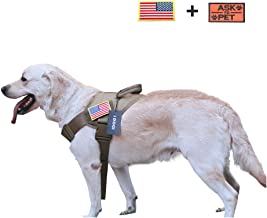 iDOGI Tactical Dog Vest Harness Service Dog Harness K9 Patrol Military Adjustable Nylon Dog Harness with Handle for Small Large Dog Small Brown