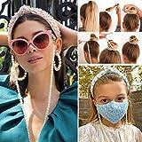 Bohend Moda Perlas Cadena de gafas de sol Oro Cadena de mascarilla Perla Accesorios de cadena para...