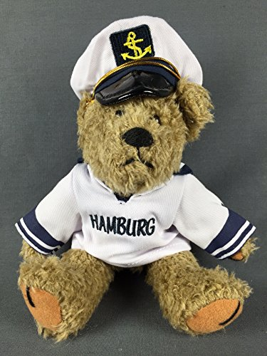 Hamburg Teddy im Matrosenhemd und Kapitänsmütze