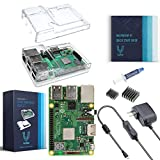 Vilros Raspberry Pi 3 B+ (B Plus) with Dual Clear Case and 2.5A Power Supply [2018 Model]