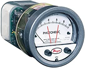 "Dwyer Photohelic Differential Pressure Gage & Switch, A3000-00, 0-25"" w.c."