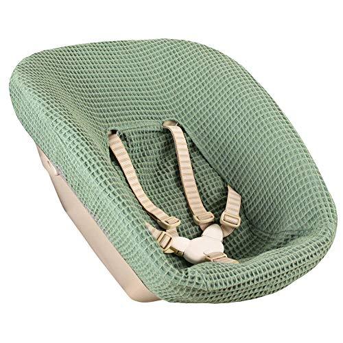 Bezug Stokke Tripp Trapp Newborn Set Jade Einfarbig Waffelpique Öko-Tex 100 Baumwolle Recycelbar Schweißabsorbierend und Weich für Ihr Baby