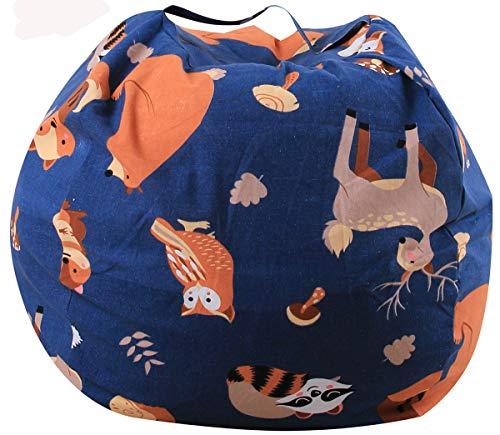 ALASON Stofftier Kuscheltiere Aufbewahrung Aufbewahrungstasche Sitzsack Kinder Soft Pouch Stoff Stuhl Riesensitzsack Sitzkissen Sessel für Kinder & Erwachsene,14,24 inch