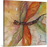 Dragonfly Tango Canvas Wall Art Print, Insects Artwork