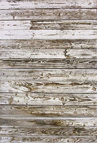 CdHBH 60 cm x 90 cm Grunge blanco desteñido textura de madera de corte lateral de vinilo Shabby Moteado tablero de fondo de madera para niños adultos ropa mascotas comida recién...