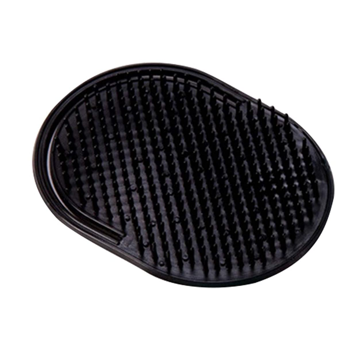 下黒人ユーモラスHealifty ヘアブラシシャンプーブラシポケットコームスカルプマッサージャーブラシ12本(ブラック)