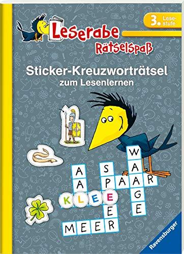 Sticker-Kreuzworträtsel zum Lesenlernen (3. Lesestufe) (Leserabe - Rätselspaß)