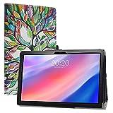 LiuShan Compatible con TECLAST P20HD Funda,TECLAST M40 Funda, Folio Soporte PU Cuero con Funda Caso para 10.1' TECLAST P20HD / TECLAST M40 Tablet (No es Compatible con TECLAST P10),Love Tree