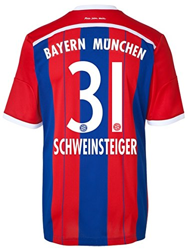 adidas Trikot FC Bayern München 2014-2015 Home (Schweinsteiger 31, L)