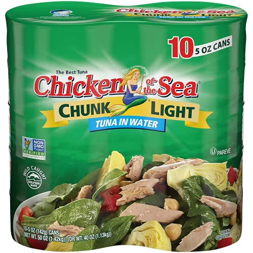 Chicken of the Sea, Chunk Light Tuna in Water, 5 oz. Can (Pack of 10)