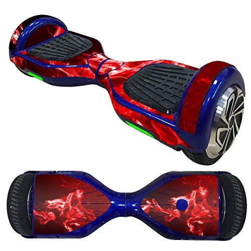 Pegatina de auto equilibrio, compatible con Hoverboard Scooter, Hoverboard Vinyl Decal Wrap Cover, Smart Hover Scooter Protector Skin Wrap, fácil de aplicar y quitar (etiqueta azul)
