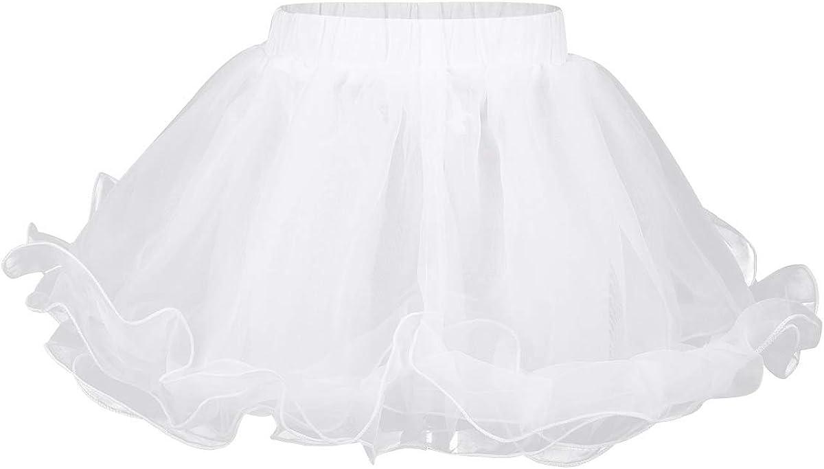 Aislor Girls Kids 3 Layers Organza Petticoat Underskirt Wedding Princess Pageant Dance Dress
