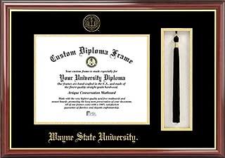 Campus Images MI983PMHGT Wayne State University Tassel Box and Diploma Frame, 8