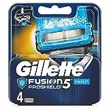 Gillette Fusion 5 ProShield Chill Lames de rasoir avec lame de coupe pour précision et revêtement lisse 4 lames de rechange
