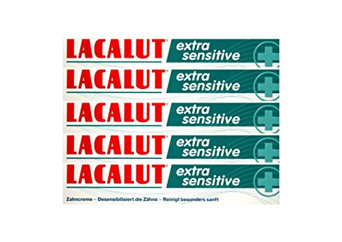 5x LACALUT extra sensitive Zahnpasta 75ml Zahncreme, PZN: 10991693, Made in Germany NEU