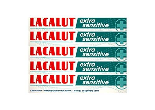 5x LACALUT extra sensitive Zahnpasta 75ml Zahncreme, PZN: 10991693, Made in Germany NEU