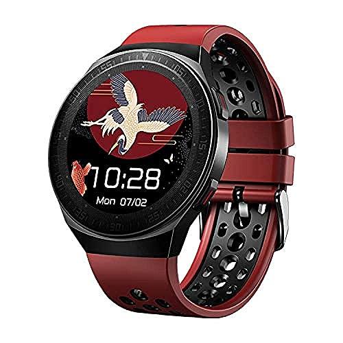 YLB Smart Watch 1.28 Pulgadas Pantalla Fitness Tracker Sports Pedómetro Pulsera 8G Música Independiente Fresco Dial Bluetooth Llamada Mensaje de grabación Digital Push