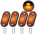 Justech 4 x Luci di Posizione Luci Laterali Luci di Posizione Indicatore LED Fanali Posizi...