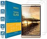 PREMYO 2 Stück Panzerglas Schutzglas Bildschirmschutzfolie Folie kompatibel für Huawei MediaPad M2 8.0 HD-Klar 9H Anti Kratzer Blasen Fingerabdrücke
