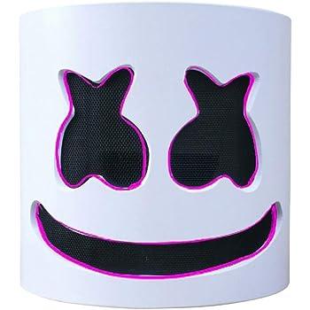 DJ Marshmallow LED Light Mask, Music Festival Marshmallow Full ...