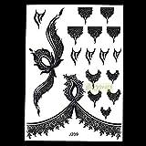 1pc Popular Flash Tattoo BJ209 Aerógrafo Tatuajes temporales Arte Corporal en el PechoColor Negro FalsoTatuaje a Prueba deAguaPegatinas Cubierta de Tinta