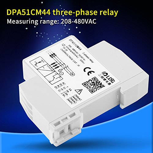 480VAC 3-Phase Monitoring Relay Phase Sequence Protector