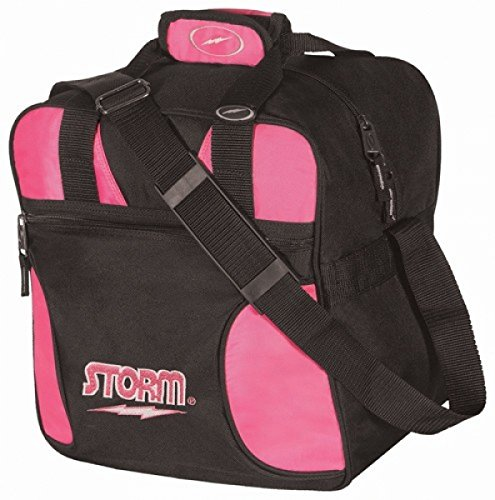 Storm Solo Single Tote 1 Ball Bowling-Tasche für 1 Bowlingball und 1 Paar Bowling-Schuhe (Schwarz/Pink)