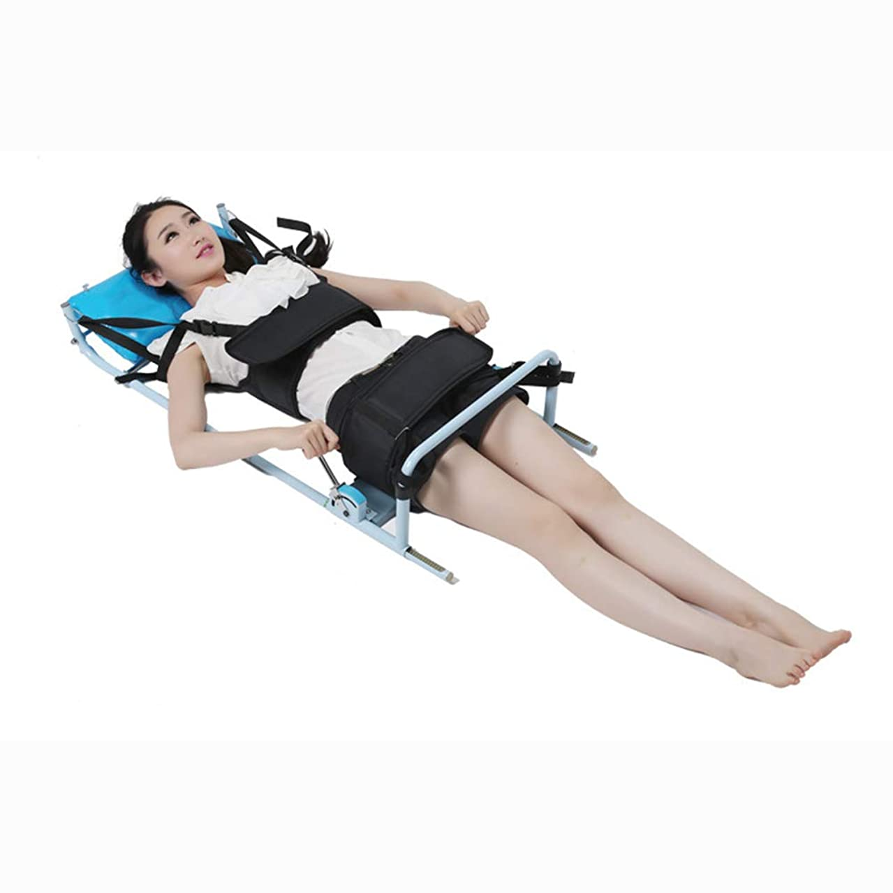 刈り取る包帯反対にポータブル頸椎腰椎牽引ベッド脊椎症治療マッサージ体ストレッチ装置用腰痛腰痛