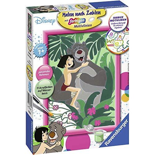 Ravensburger 27785 Dschungelbuch, Malen nach Zahlen Spielzeug, Mehrfarbig