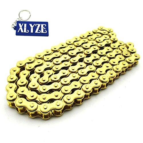 Xlyze Chaîne 420 à 104 maillons en or pour moto ou quad 110 cc et 125 cc SSR Thumpstar XR50, CRF50, CRF70