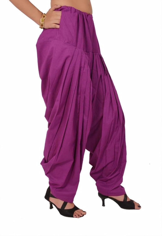 S & S Women Cotton Solid Full Patiala Salwar Dupatta Set (Stmapa078603