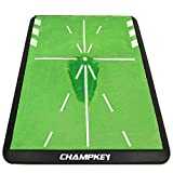 Champkey Tracker-PRO Impact Golf Hitting Mat | Heavy-Duty Rubber Backing Golf Training Mat | Analysis Swing Path and Correct Hitting Posture Golf Practice Mat
