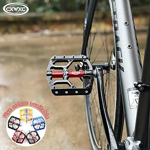 CXWXC Pedale Fahrrad MTB Pedal 9/16 ZollRutschfeste Fahrrad Pedal Mountainbikes Plattform Pedale Aluminiumlegierung Fläche 3 Abgedichtete Läger für MTB BMX Rennrad - 6